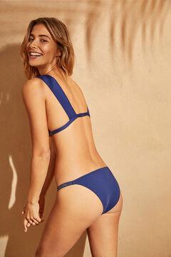 Womensecret Blue sparkly halterneck bikini top blue