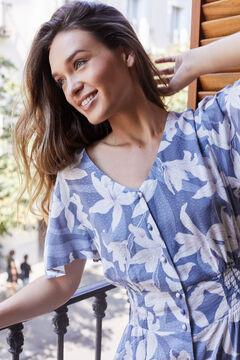 Womensecret Long floral dress blue