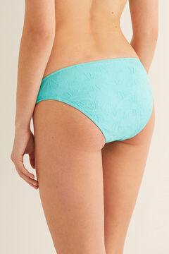 Womensecret Bikini-Höschen klassisch strukturierter Stoff Blau