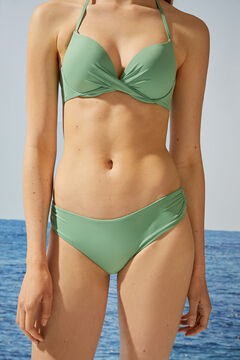 Womensecret Classic green bikini bottoms in recycled fabric green