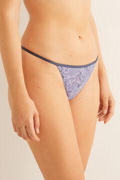 Womensecret Lilac Brazilian strappy panty green