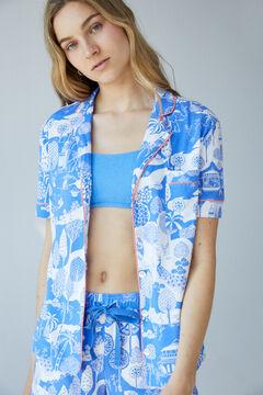 Womensecret Short Indian cotton pyjamas blue