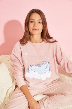 Womensecret Pink fleece Cookie Monster pyjamas pink
