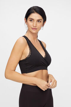 Womensecret Recycled nylon seam-free maternity bra black