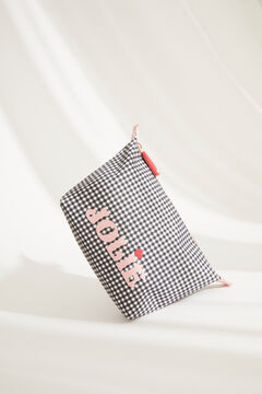 Womensecret Small gingham vanity case black