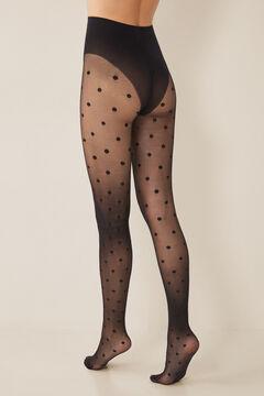 Womensecret Black polka-dot tights black