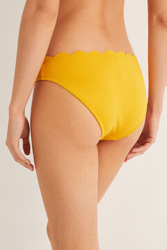 Womensecret Scalloped detail bikini bottoms yellow