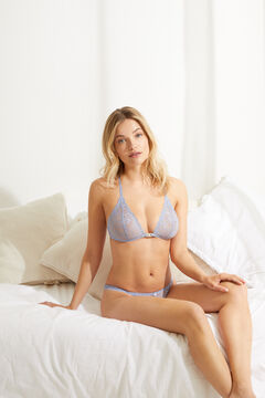Womensecret NATURAL Blue lace and triangle bra blue