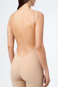 Womensecret Ivette Bridal shapewear bodysuit with push-up cups in nude barna