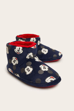 Womensecret Pantufas tipo bota Mickey navy azul