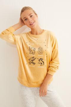 Womensecret Pyjama long velours House Pride jaune