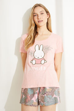 Womensecret Short cotton short-sleeved Miffy pyjamas pink