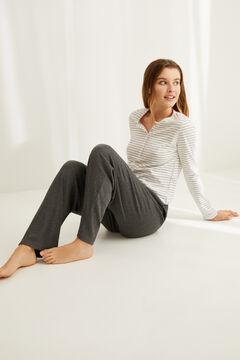 Womensecret T-shirt serafino manches longues rayures coton imprimé
