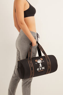 Womensecret Black Snoopy nylon gym bag black