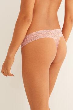 Womensecret Pink lace tanga #idocare pink