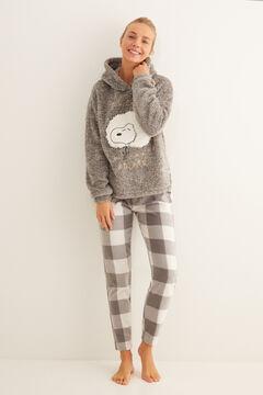 Womensecret Long grey fluffy Snoopy pyjamas grey