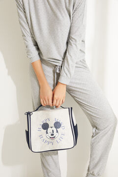Womensecret Large grey briefcase-style vanity case with Mickey Mouse print grey