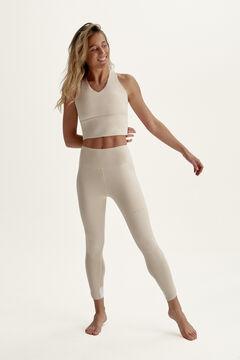 Womensecret Legging Upala Tapioca / White gris
