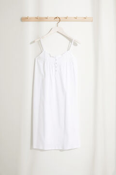 Womensecret Maternity nightgown with straps and ruffles white
