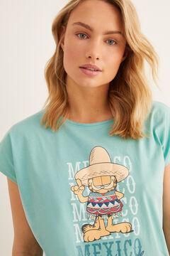 Womensecret Short Garfield 'Mexico' pyjamas green
