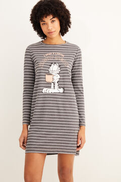 Womensecret Nuisette courte rayures Garfield gris