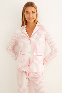 Womensecret Long striped classic pyjamas red