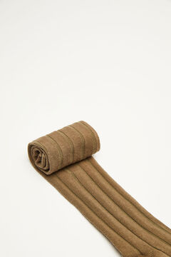 Womensecret Long green ribbed cable socks green