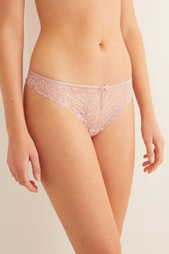Womensecret String dentelle rose  rose