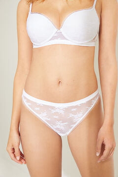 Womensecret Braguita clásica encaje blanco blanco