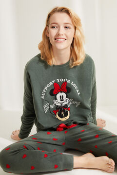 Womensecret Fleece-Pyjama Minnie Roh