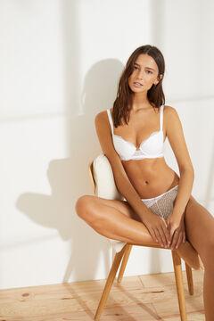 Womensecret BEAUTIFUL Classic white lace bra white