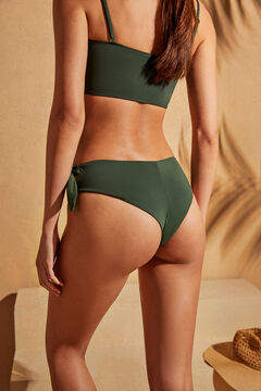 Womensecret High green bikini boxers with tie green