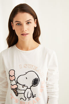 Womensecret Long-sleeved Snoopy pyjamas white