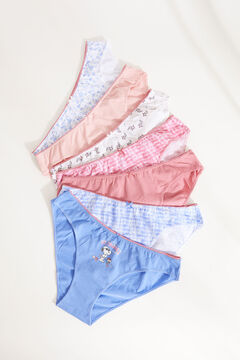 Womensecret 7-pack Snoopy print cotton classic panties blue