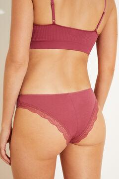 Womensecret Pink Brazilian panty pink