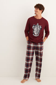 Womensecret Men's long Hogwarts pyjamas printed