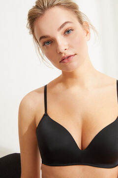 Womensecret UNIQUE Sujetador triangular push up negro