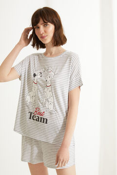 Womensecret Striped 101 Dalmatians cotton short pyjamas grey