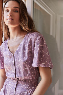 Womensecret Purple floral midi dress pink