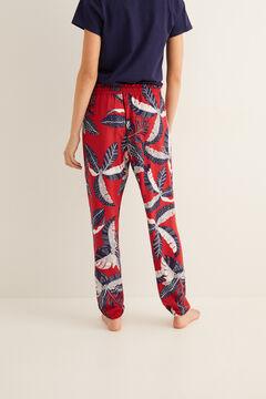 Womensecret Long printed pyjama bottoms printed