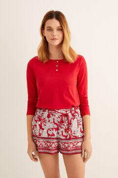 Womensecret Printed pyjama shorts printed