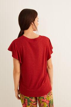 Womensecret T-shirt manches courtes rouge