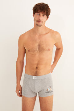 Womensecret Pack of 2 Asterix and Obelix boxer shorts grey