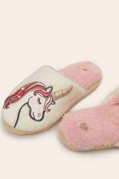 Womensecret Unicorn slippers white