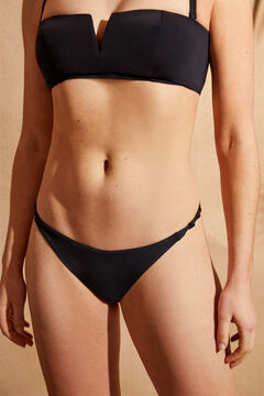 Womensecret Brazilian bikini bottoms with small knots black