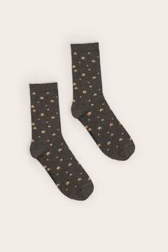 Womensecret Long star print socks grey