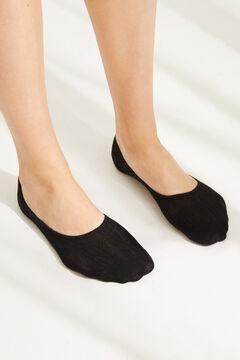 Womensecret Pack of 3 grey no-show socks printed