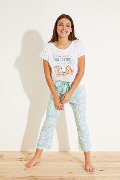 Womensecret Long 100% cotton pyjamas beige