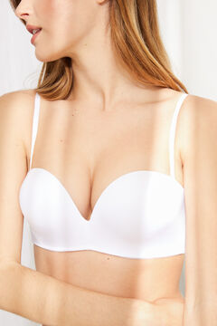 Womensecret Soutien sem alças, sem aro, super push up branco
