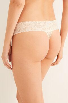 Womensecret Vanilla lace tanga printed